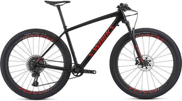 Specialized S-Works Epic Hardtail Color: Gloss Carbon/Rocket Red