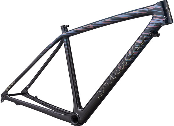 Specialized S-Works Epic Hardtail Frameset - LTD Color: Gloss Teal Tint/Red Flake Tint/ Cosmic Black