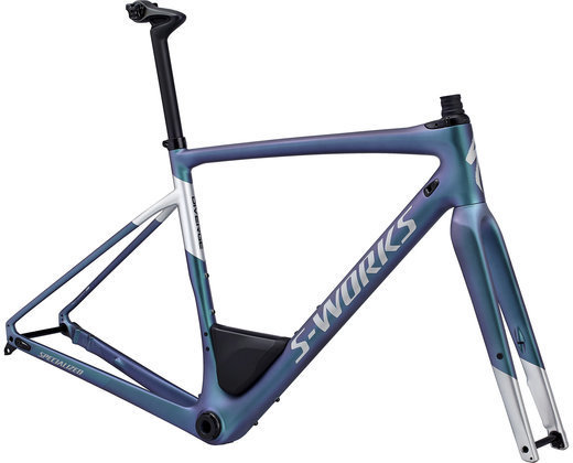 Specialized S-Works Men's Diverge Frameset Color: Satin Gloss Oil/Gloss Light Silver