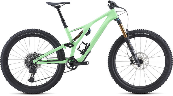 Specialized S-Works Men's Stumpjumper 27.5 Color: Gloss Acid Kiwi/Black