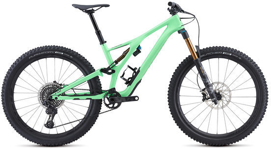 Specialized S-Works Men's Stumpjumper 27.5 Color: Acid Kiwi/Black