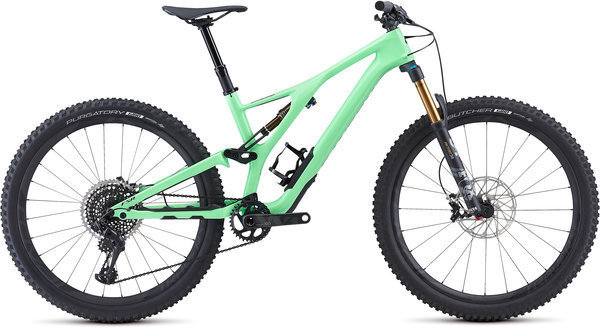 Specialized S-Works Men's Stumpjumper ST 27.5 Color: Acid Kiwi/Black