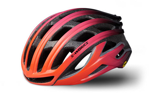 Specialized S-Works Prevail II with ANGi Color: Acid Lava/Acid Purple