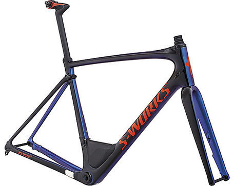 Specialized S-Works Roubaix Frameset Color: Gloss Tarmac Blk/Chameleon Edge Fade/Rkt Red/Clean