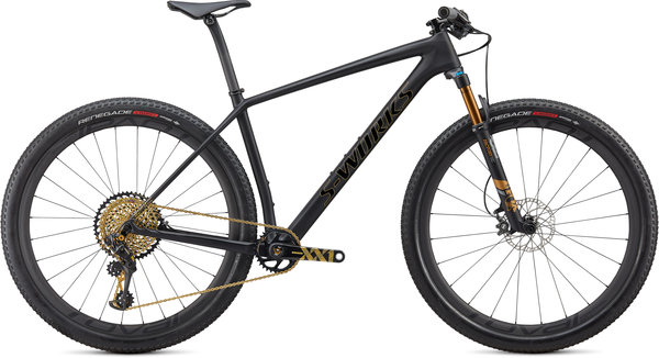 Specialized S-Works S-Works Epic Hardtail Ultralight Color: Satin Ultralight Black/Gold Foil