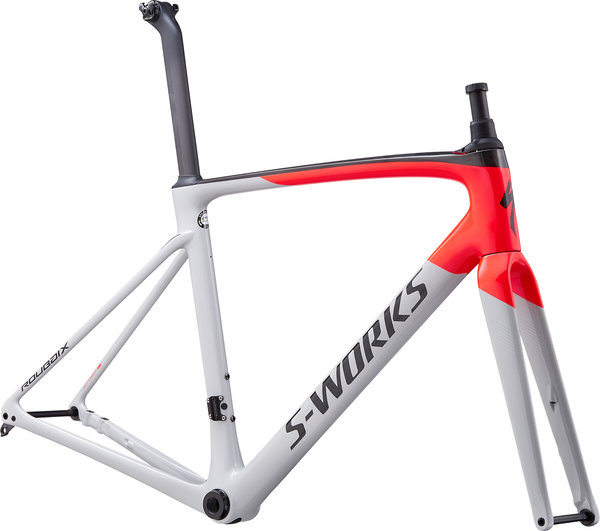Specialized S-Works S-Works Roubaix Frameset Color: Dove Gray/Rocket Red