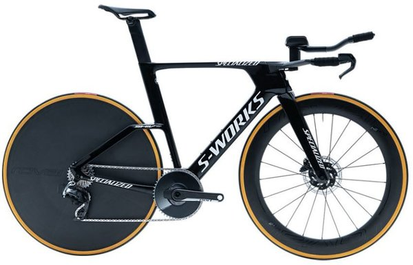 Specialized S-Works Shiv TT Disc Color: Gloss Tarmac Black/White