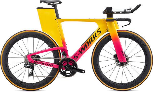 Specialized S-Works Shiv S-Works Disc Di2 Color: Gloss Golden Yellow/Vivid Pink/Black