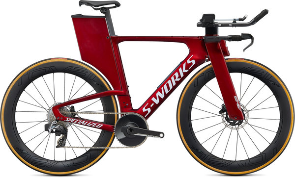 Specialized S-Works Shiv S-Works Disc SRAM Red eTap AXS Color: Gloss Metallic Crimson/Dove Grey