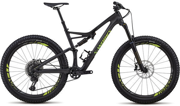 Specialized S-Works Stumpjumper 6Fattie Color: Satin Gloss Carbon/Hyper Green