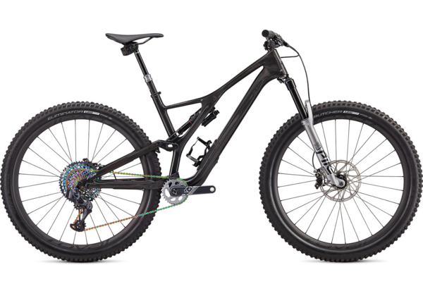 Specialized S-Works Stumpjumper SRAM AXS 29 Color: Gloss Carbon/Silver/Silver Camo Fade