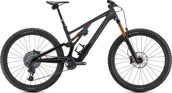 Specialized S-Works Stumpjumper EVO Color: Gloss Carbon/Black/Brushed Black Chrome
