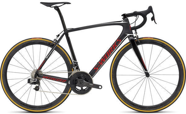 Specialized S-Works Tarmac eTap Color: Satin/Gloss Carbon/Flo Red/Metallic White