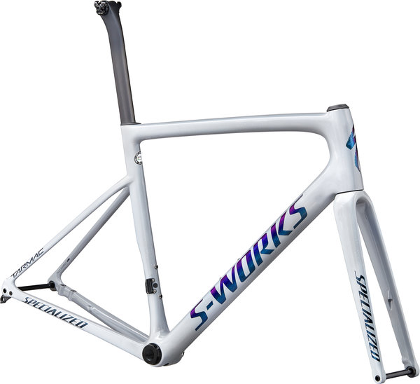 Specialized S-Works Tarmac Disc Frameset Color: Gloss Cool Grey/Dove Grey/Diamond Dust