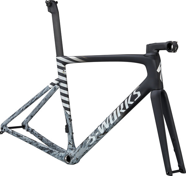 Specialized S-Works Tarmac SL7 Frameset Color: Black/Cool Grey/Dove Grey/Spectraflair