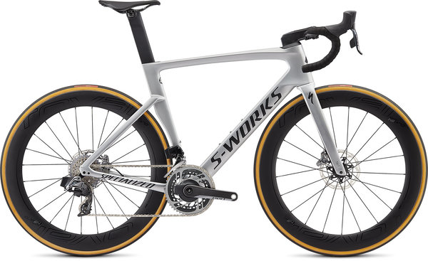 Specialized S-Works S-Works Venge Disc – SRAM ETAP (d2) Color: Gloss Metallic White Silver/Lite Silver Fade