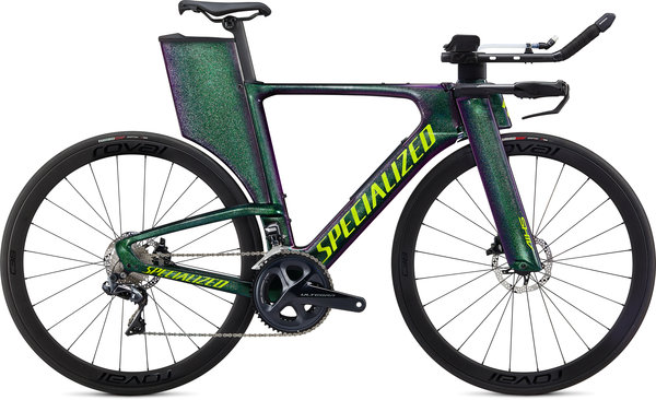 Specialized Shiv Expert Disc UDi2 Color: Gloss Green Chameleon/Hyper Green