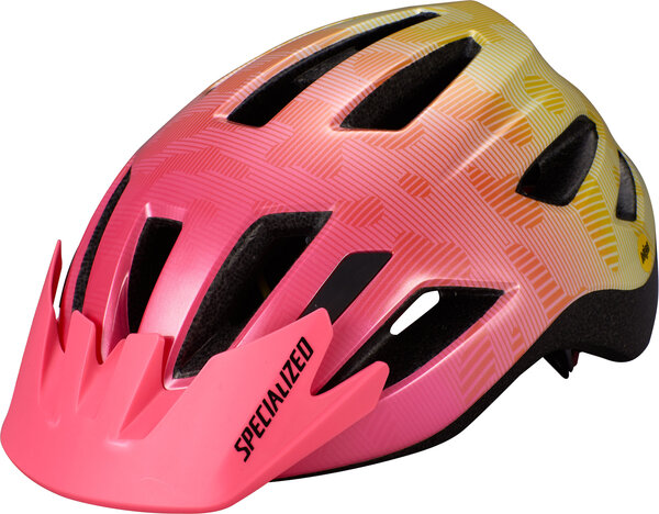 Specialized Shuffle Youth Standard Buckle Color: Yellow/Acid Pink Terrain