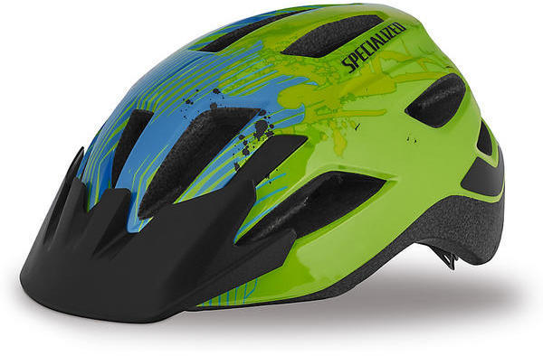 Specialized Shuffle Child Helmet Color: Hyper Green/Blue Flame