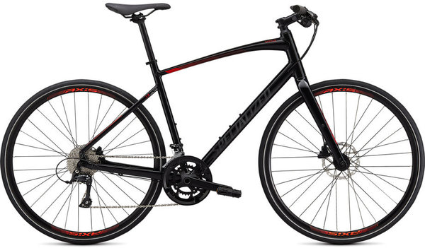 Specialized Sirrus 3.0 (9/8) Color: Gloss Cast Black/Rocket Red