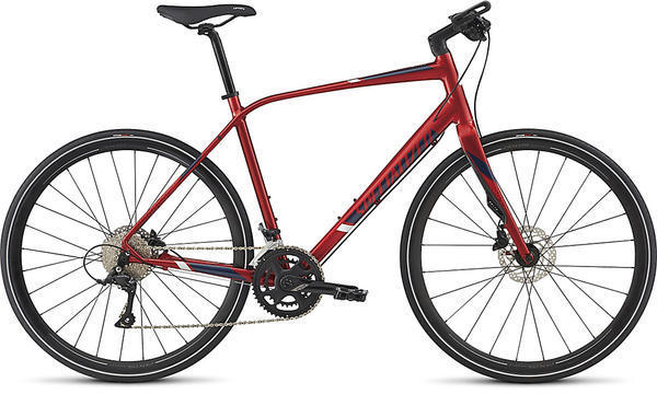 Specialized Sirrus Elite Color: Candy Red/Navy/Baby Blue