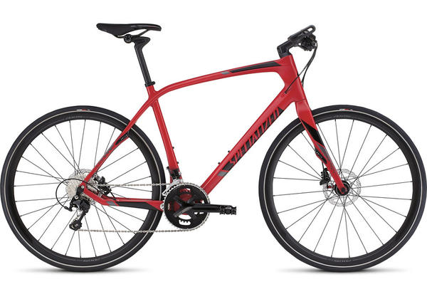 Specialized Sirrus Expert Carbon Color: Red/Satin Black/Charcoal