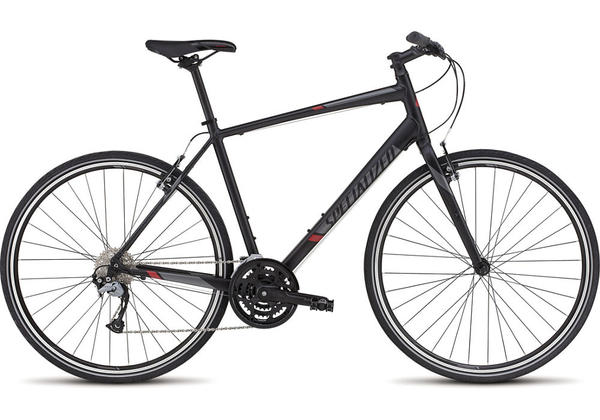 Specialized Sirrus Sport Color: Black/Satin Black/Red