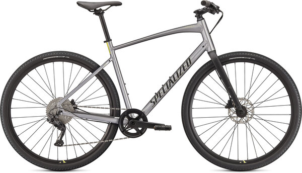 Specialized Sirrus X 3.0 Color: Gloss Flake Silver/Ice Yellow/Satin Black Reflective