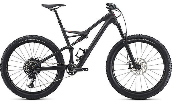 Specialized Stumpjumper Expert 11m - 6Fattie Color: Satin Silver Tint Carbon/Black/Rocket Red Clean