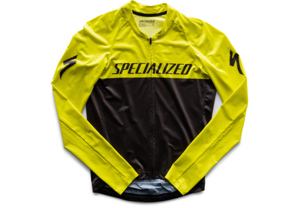 Specialized SL Air Long Sleeve Jersey Color: Charcoal/Ion Team