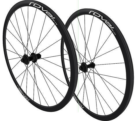 Roval SLX 24 Disc Wheels Color: Black/Charcoal