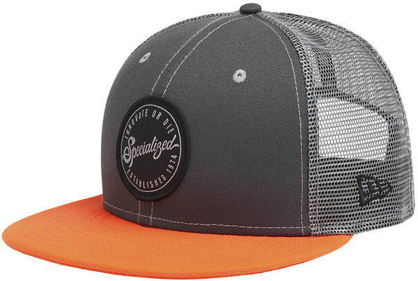 Specialized New Era Flat Brim Hat Color: Slate/Red Dirt/Black