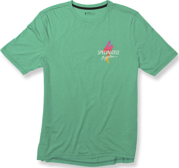 Specialized Standard Boardwalk T-Shirt Color: Acid Mint/Fade
