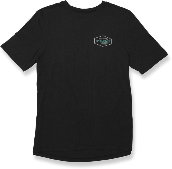 Specialized Standard Stretcher T-Shirt Color: Black/Acid Mint