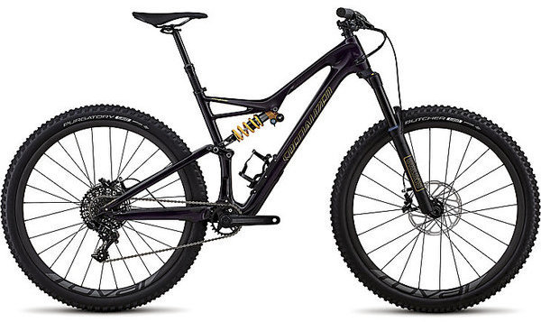 Specialized Stumpjumper Coil Carbon 29/6Fattie Color: Gloss Purple Tint/Gold Clean