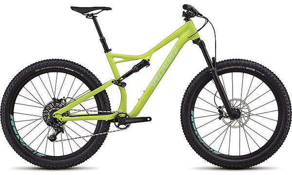 Specialized Stumpjumper Comp Alloy 6Fattie Color: Gloss Hyper/Light Turquoise Clean