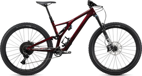 Specialized Stumpjumper EVO Comp Carbon 29 Color: Gloss Red Tint Carbon/Dove Grey