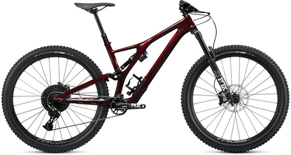 Specialized Stumpjumper EVO Comp Carbon 27.5 Color: Gloss Red Tint Carbon / Dove Grey