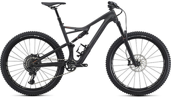 Specialized Stumpjumper Expert 11m - 27.5 Color: Satin Silver Tint Carbon/Black