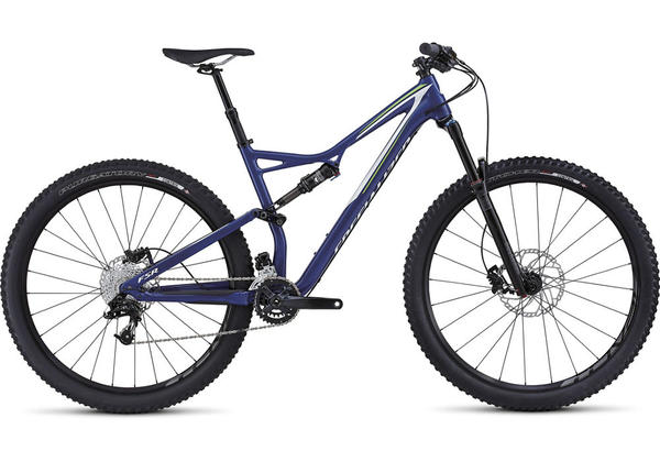 Specialized Stumpjumper FSR Comp 29 Color: Gloss Deep Blue/Monster Green/White
