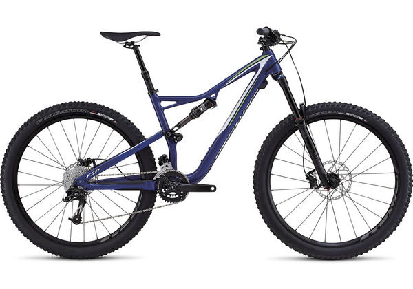 Specialized Stumpjumper FSR Comp 650B Color: Gloss Deep Blue/Monster Green/White