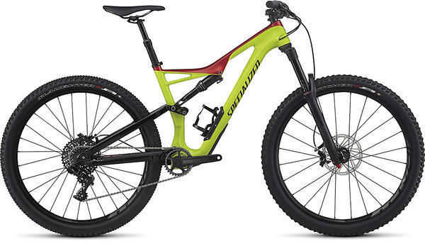 Specialized Stumpjumper FSR Comp Carbon 650b Color: Gloss Hyper/Candy Red/Black