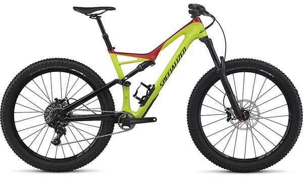 Specialized Stumpjumper FSR Comp Carbon 6Fattie Color: Gloss Hyper/Candy Red/Black