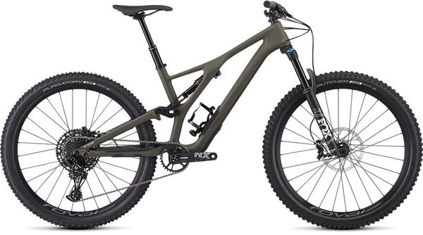 Specialized Men's Stumpjumper ST Comp Carbon 27.5 – 12-Speed Color: Satin / Oak / East Sierras