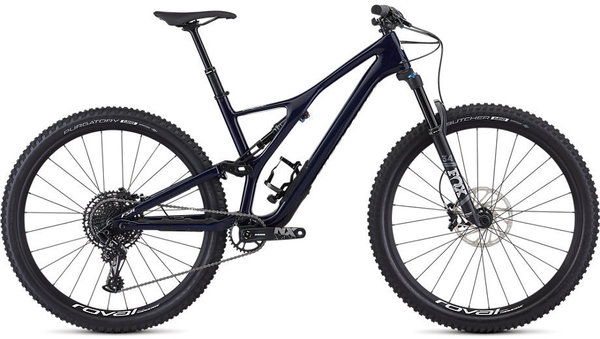 Specialized Men's Stumpjumper ST Comp Carbon 29 – 12-Speed Color: Gloss Blue Tint Carbon / White