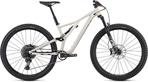 Specialized Women's Stumpjumper ST Comp Alloy 29 – 12-Speed Color: Gloss Satin White Mountains/Blue/Tropical Teal