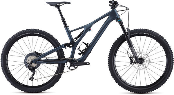 Specialized Men's Stumpjumper ST Comp Carbon 27.5 Color: Cast Battleship/Taupe
