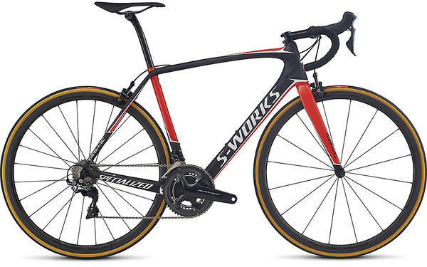 Specialized S-Works Tarmac Dura-Ace Color: Satin Carbon/Rocket Red/Metallic White