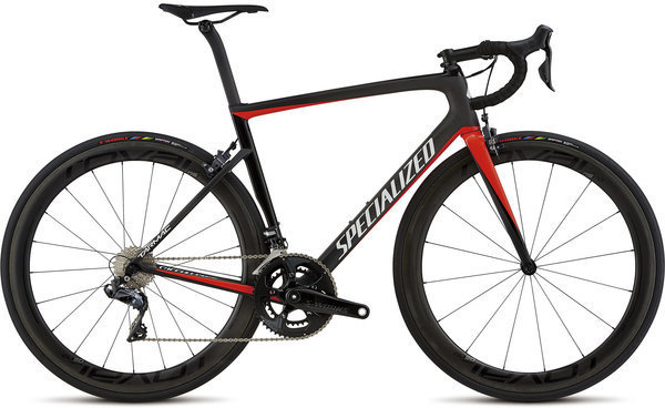Specialized Men's Tarmac Pro Color: Carbon/Gloss Rkt Red/Tarmac Blk/Metallic Wht Slver