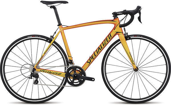 Specialized Tarmac SL4 Sport Color: Gloss Moto Orange/Bright Yellow/Tarmac Black